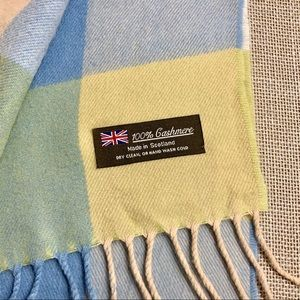 Made in Scotland Accessories - MADE IN SCOTLAND Pastel Plaid 100% Cashmere Scarf